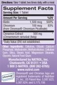 Cinnamon Biotin Chromium 60 Tabs.