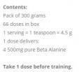 Beta-Alanine Powder 300g.