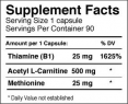 Acetyl L-Carnitine 90 Caps.