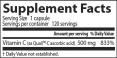 Best Vitamin C 500mg / 120 Vcaps.
