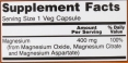 Magnesium Citrate 400mg / 240 Vcaps
