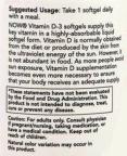 Vitamin D-3 / 1000 IU / 360 Softgels