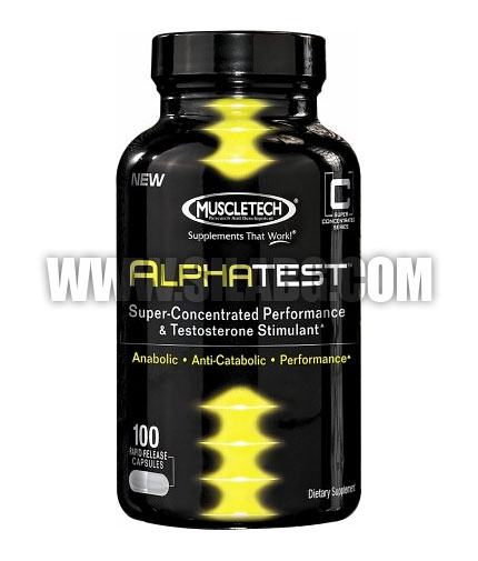 MUSCLETECH AlphaTest 100 Caps.