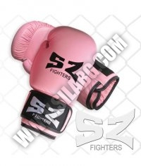 SZ FIGHTERS Boxing Gloves /Leather - Pink/
