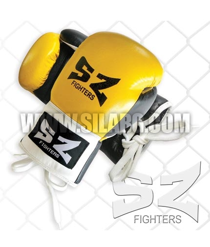 SZ FIGHTERS Boxing Gloves /Leather - Yellow/