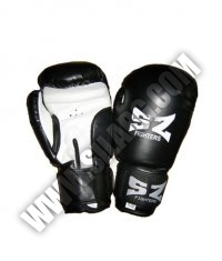 SZ FIGHTERS Boxing Gloves /Leatherette - White-Black/