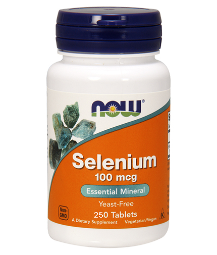 NOW Selenium /Yeast Free/ 100mcg. / 250 Tabs.