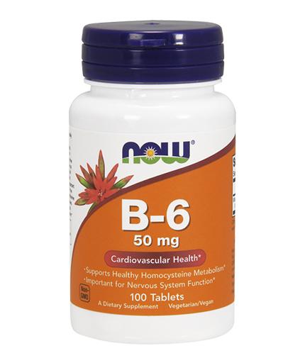 NOW Vitamin B-6 / 50mg. / 100 Tabs.