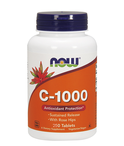 NOW Vitamin C-1000 /Sustained Release with Rose Hips/ 250 Tabs.