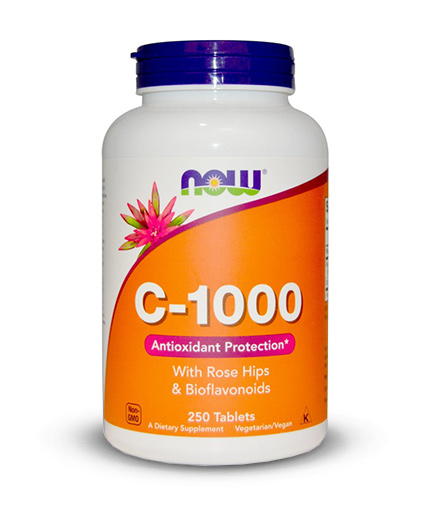 NOW Vitamin C-1000 with Rose Hips & Bioflavonoids 250 tabs.