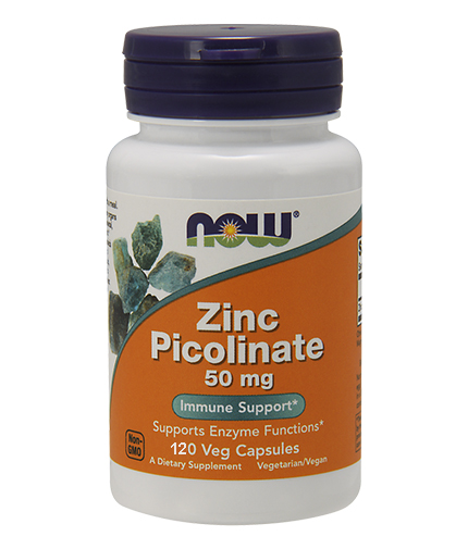NOW Zinc Picolinate 50mg. / 120 Caps.