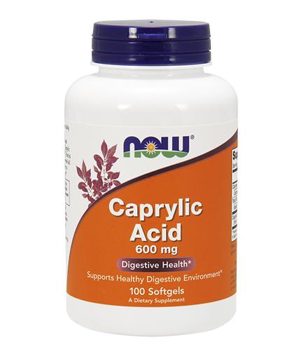 NOW Caprylic Acid 600mg. / 100 Softgels
