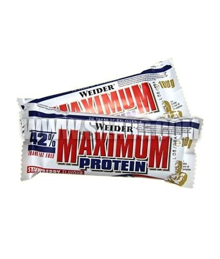 WEIDER 42% Maximum Protein Bar 16 x 100g.