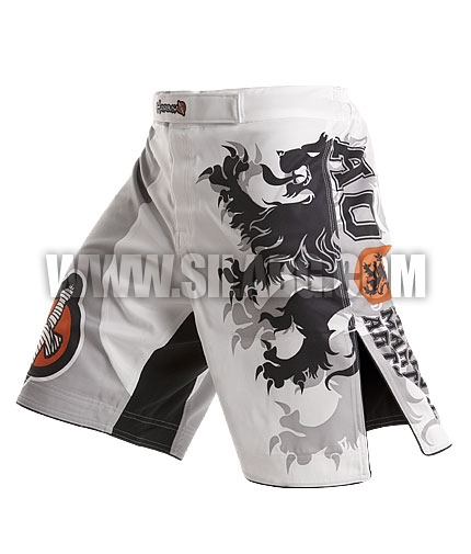 HAYABUSA FIGHTWEAR Alistair Overeem Signature Fight Shorts /White/