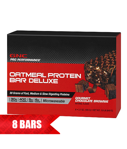 GNC Oatmeal Protein Bar Deluxe /8 x 105g./