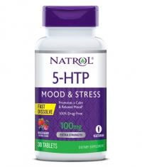 NATROL 5-HTP Fast Dissolve Mood & Stress 100mg. / 30 Tabs.