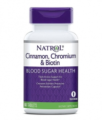 NATROL Cinnamon Biotin Chromium 60 Tabs.