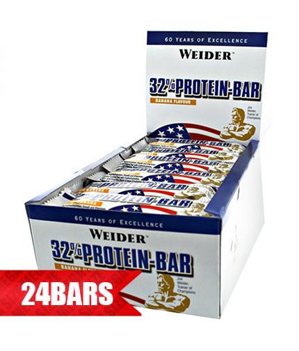 WEIDER 32% Protein Bar 24 x 60g.
