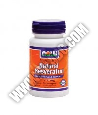 NOW Natural Resveratrol /Mega Potency/ 200mg. / 60 VCaps.
