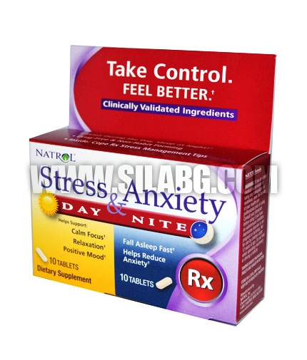 NATROL Stress & Anxiety 10+10 Tabs.