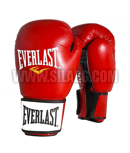 EVERLAST Ergo Molded Foam Boxing Leather Gloves /Red/