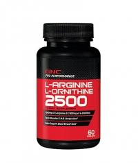 GNC L-Arginine / L-Ornithine 60 Tabs.