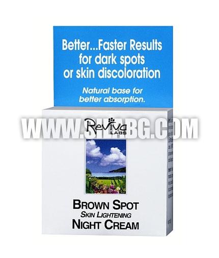 GNC Reviva ™ Labs Brown Spot Skin Lightening Night Cream 42g.
