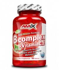 AMIX Vitamin B-Complex  + Vitamin C & E / 90 Tabs.