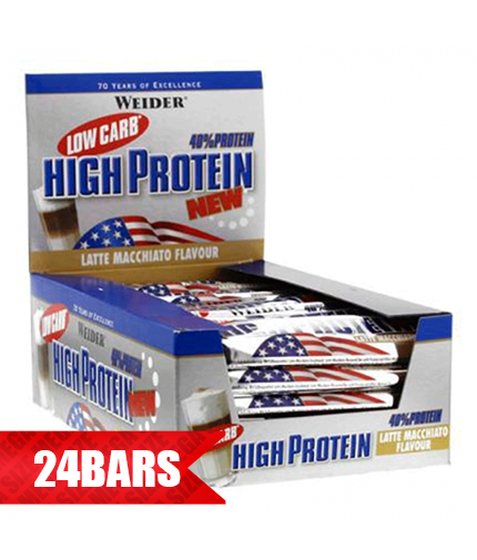 WEIDER Low Carb High Protein Bar 24 x 50g.
