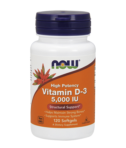NOW Vitamin D-3 / 5000 IU / 120 Softgels