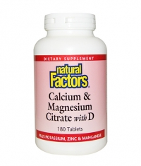 NATURAL FACTORS Calcium & Magnesium Citrate with D 90 Tabs.
