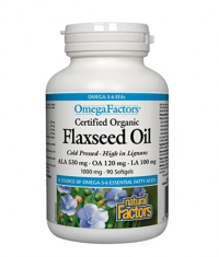 NATURAL FACTORS Flaxseed Oil 1000mg. / 90 Softgels.