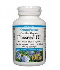 NATURAL FACTORS Flaxseed Oil 1000mg. / 90 Softgels.