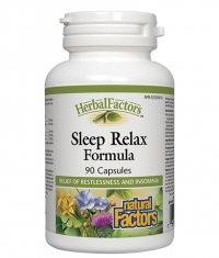NATURAL FACTORS Sleep Relax Formula 325mg. / 90 Caps.