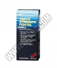 GNC Triple Strength Fish Oil + Krill 60 Softgels