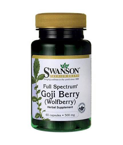 SWANSON Goji Berry /Wolfberry/ 500mg. / 60 Caps.