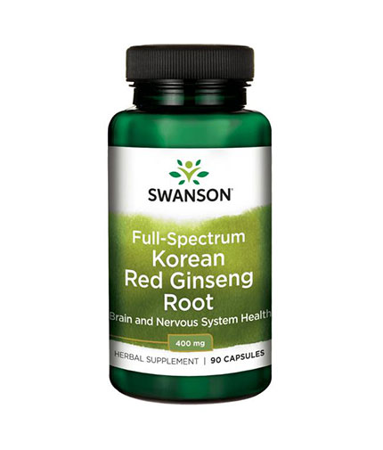 SWANSON Full-Spectrum Korean Red Ginseng Root 400mg. / 90 Caps.