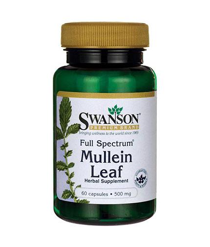 SWANSON Full Spectrum Mullein Leaf 500mg. / 60 Caps.