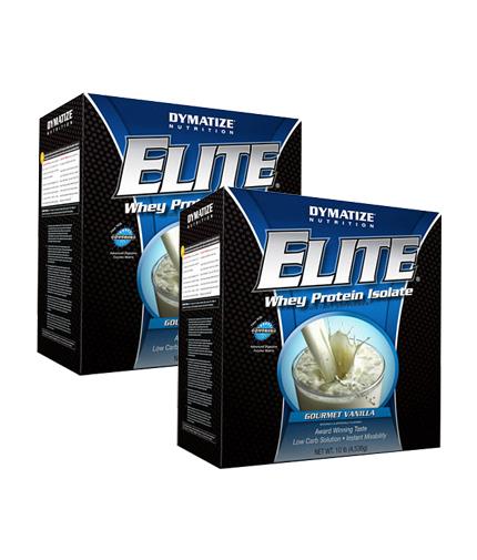 PROMO STACK Dymatize Elite Whey Protein 10 Lbs. / x2