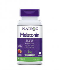 NATROL Melatonin 5mg Fast Dissolve  /Strawberry/ 90 Tabs