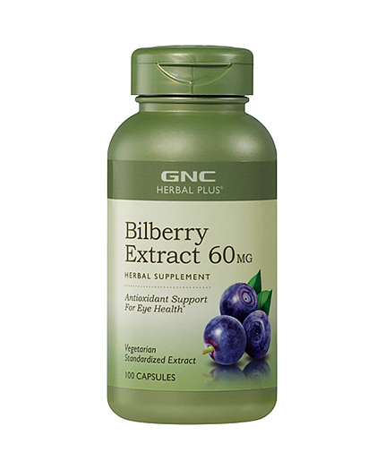 GNC Herbal Plus Bilberry 90 Vcaps.