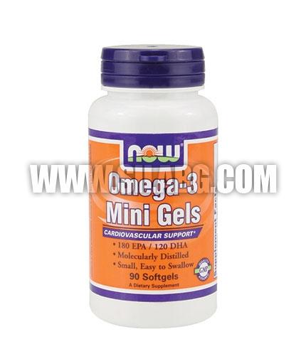 NOW Omega-3 Mini Gels 90 Softgels