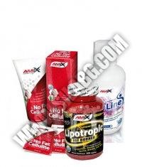 PROMO STACK Amix No Fat & Cellulite Gel 200ml. + Amix Lipotropic Fat Burner 200 Caps. + Amix CarniLine Proactive 480ml