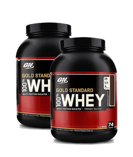 PROMO STACK ON 100% Whey Gold Standard 5 Lbs. / x2