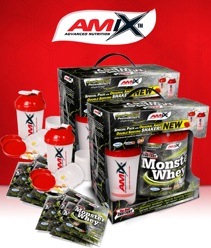 PROMO STACK Amix Anabolic Monster Whey 5 Lbs. / x2