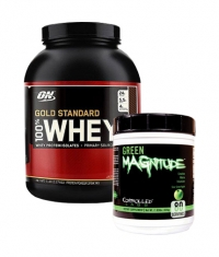 PROMO STACK ON 100% Whey Gold Standard 5 Lbs. / Controlled Labs Green MAGnitude 800g.
