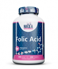 HAYA LABS Folic Acid 800mcg. / 250 Vtabs.