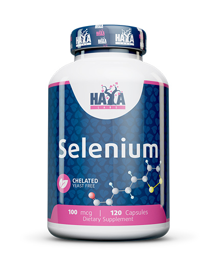 HAYA LABS Selenium /Chelated -yeast free/ 100mcg. /  120 caps.