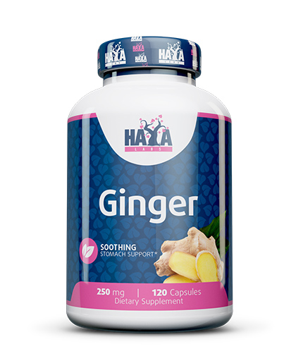 HAYA LABS Ginger 250mg. / 120 Vcaps.