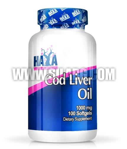 HAYA LABS Cod Liver Oil 1000mg. / 100 Softgels